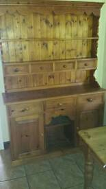 Solid Pine Welsh Kitchen Dresser