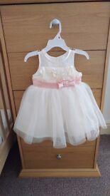 Cream Flower Dress