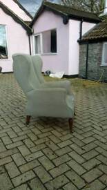 A nicely shaped Victorian wing back armchair