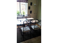 Glass dining table with chairs MUST GO ASAP