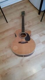 Brunswick BTK60N Electro Acoustic Guitar GOOD CONDITION AND FULLY WORKING FULL SIZE