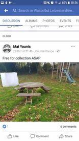 Garden table/bench FREE