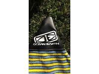 Ocean earth surfboard cover bag