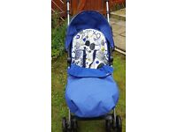 Mamas & Papas Swirl Graffiti Pushchair Package - Blue ~ In Very Good Condition