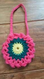 Handmade crochet bags for little girls