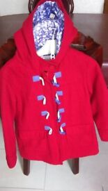 Gorgeous girls red coat from M&S. Age 6-7