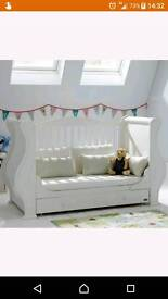 """STUNNING TUTTI BAMBINI """"LOUIS"""" COT/BED WITH MATCHING LOLLIPOP LANE NURSERY BEDDING/ACCESSORIES"""