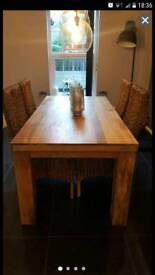 Brand new oak table + 4 chairs