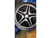 "Genuine Mercedes AMG wheels 18"""