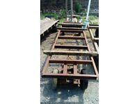 Heavy Duty Steel Timber Cart - No 3