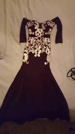 LIPSY DRESS. Embelissed detail stinning long bardot