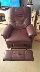 leather chocolate armchair