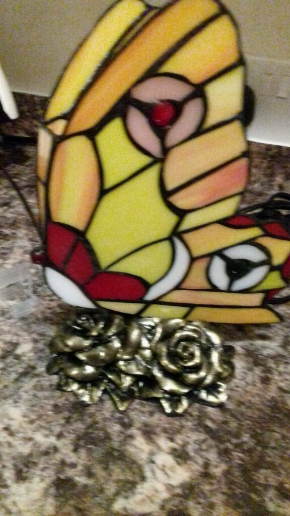 Tiffany Style Butterfly Table Lamp In Middlesbrough North Yorkshire