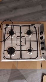 Indesit hob cooker top gas. Great condition. 18months old.