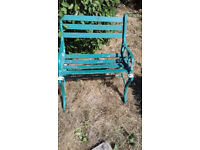 Single seat garden bench in good used condition.