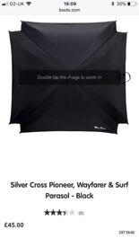 Silvercross surf parasol - black