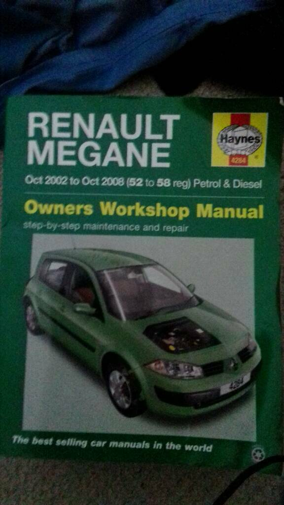 Renault megane workshop manual Paignton