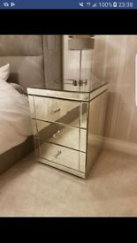 1 x mirror bedside table BRAND NEW