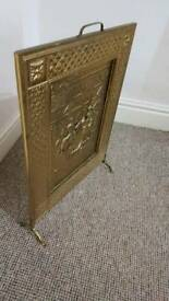 Brass veneer fire screen in very good condition