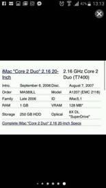 """Excellent Condition 20"""" iMac (2009)"""