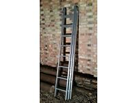 3 section professional extension ladder