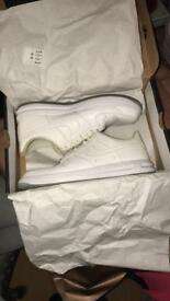 White Nike air forces 1 with box