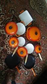 8 cast iron set