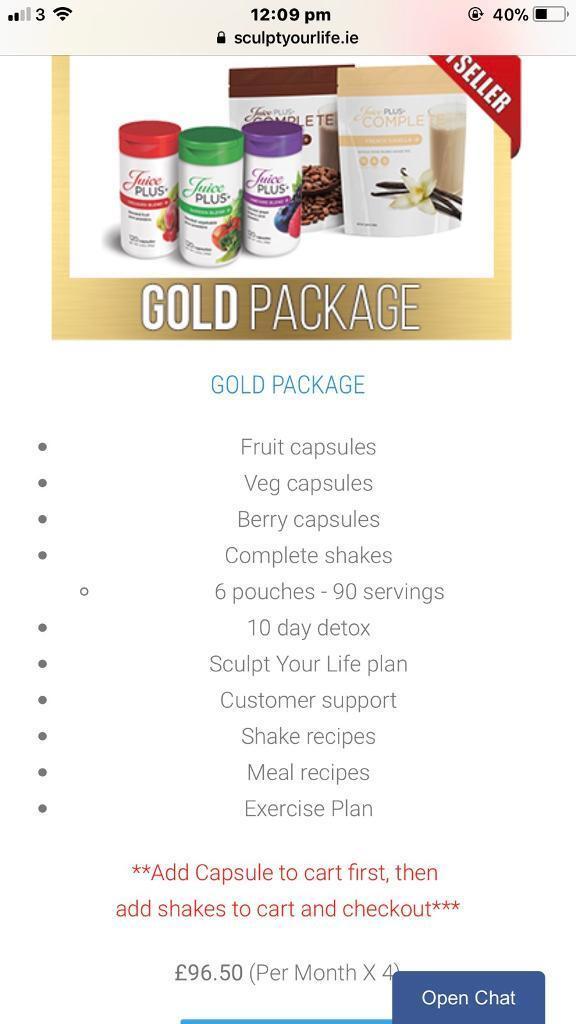 Juice plus package