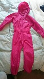 Girls New all-in-one weatherproof outfit 5-6 years