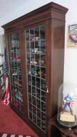 Large display cabinet ,leaded glass doors