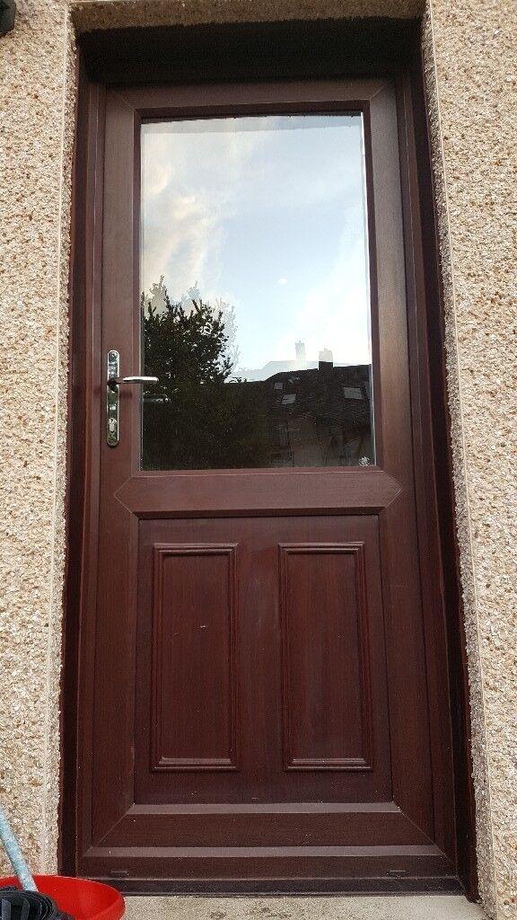 Upvc Back Door Brown On Outside White On Inside In