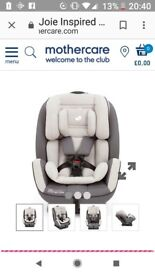 Joie car seat 0+ 1 and 2 for ages 0- 7 years.