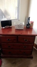 A beautiful genuin wood chest of draws needs gone asap