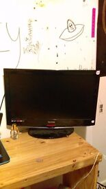 """22"""" lcd TV, no remote but still perfect working order"""