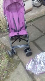Stroller with rain cover