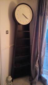 Clock bookcase display