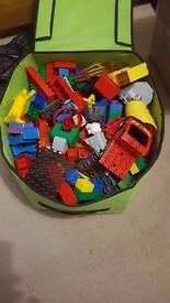 Large box of lego duplo