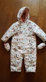 John lewis girls snowsuit. Size 12-18 months.