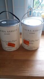 Laura Ashley Matt Emulsion Paint In Ivory 2 Tins 5 Ltrs In Each Tin Unused
