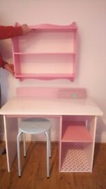 Childrens Desk / Dressing Table with Stool and Shelving Unit by Verbaudet