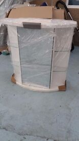 Brand New Bow Fronted Mirror Unit