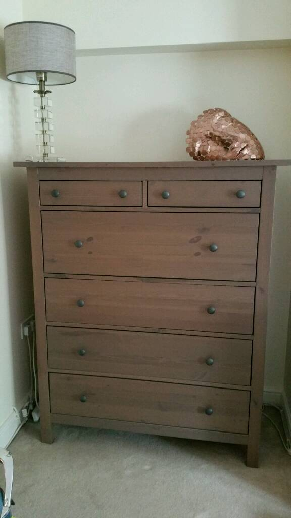 Ikea Hemnes  Drawer Chest Grey Brown