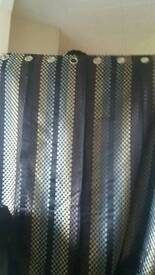 harrycorry almost new fully lined eyelets chocolate brown curtains with circles design