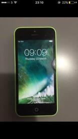 IPHONE 5C UNLOCKED GREEN GOOD CONDITION