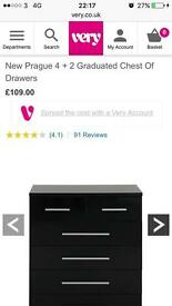 New Prague 4 + 2 Graduated Chest Of Drawers In