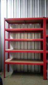 £45 HEAVY DUTY 175kg/shelf BLACK Storage shelves 180x90x45cm Metal Racking Garage delivery