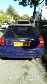 A Toyota Corolla car for Sale £500.00