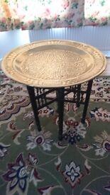 Brass Arabic Circular coffee/occasional table