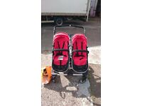 First Wheels City Twin Stroller Double Buggy