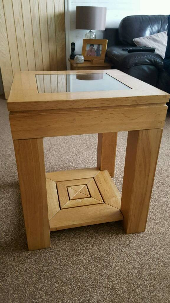 Oak and glass lamp table in chadderton manchester gumtree oak and glass lamp table aloadofball Gallery